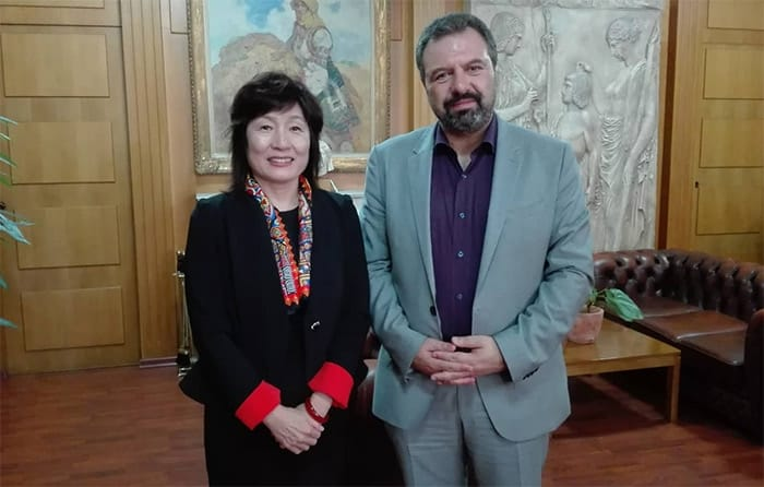 Αποτέλεσμα εικόνας για Συνάντηση Υπουργού Αγροτικής Ανάπτυξης και Τροφίμων με την Πρέσβειρα της Κίνας