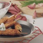 Σουβλάκια λαχανικών με Γραβιέρα Νάξου Π.Ο.Π. και τζατζίκι!