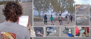 Ο παράκτιος καθαρισμός της παραλίας Μονολίθου.