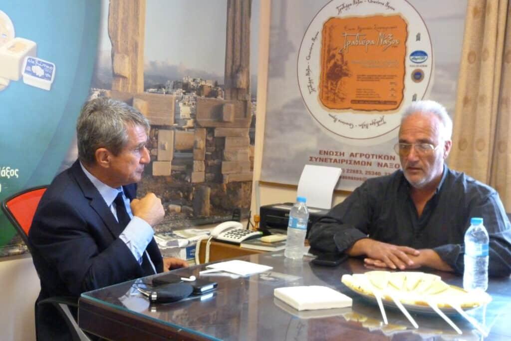 Επίσκεψη Ανδρέα Λοβέρδου στην Ένωση Αγροτικών Συνεταιρισμών Νάξου